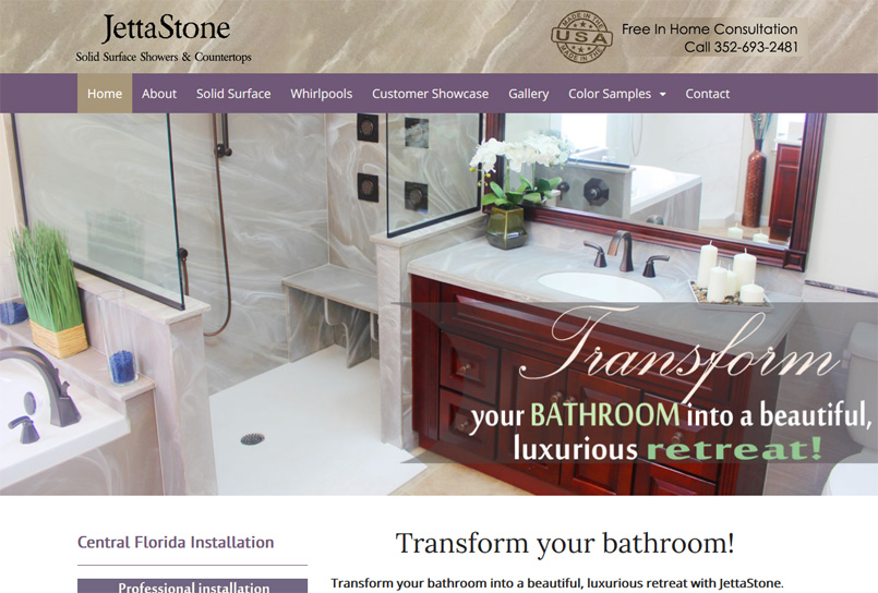 JettaStone Solid Surface Showers & Countertops