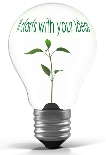 It starts with your ideas! Contact us to get started