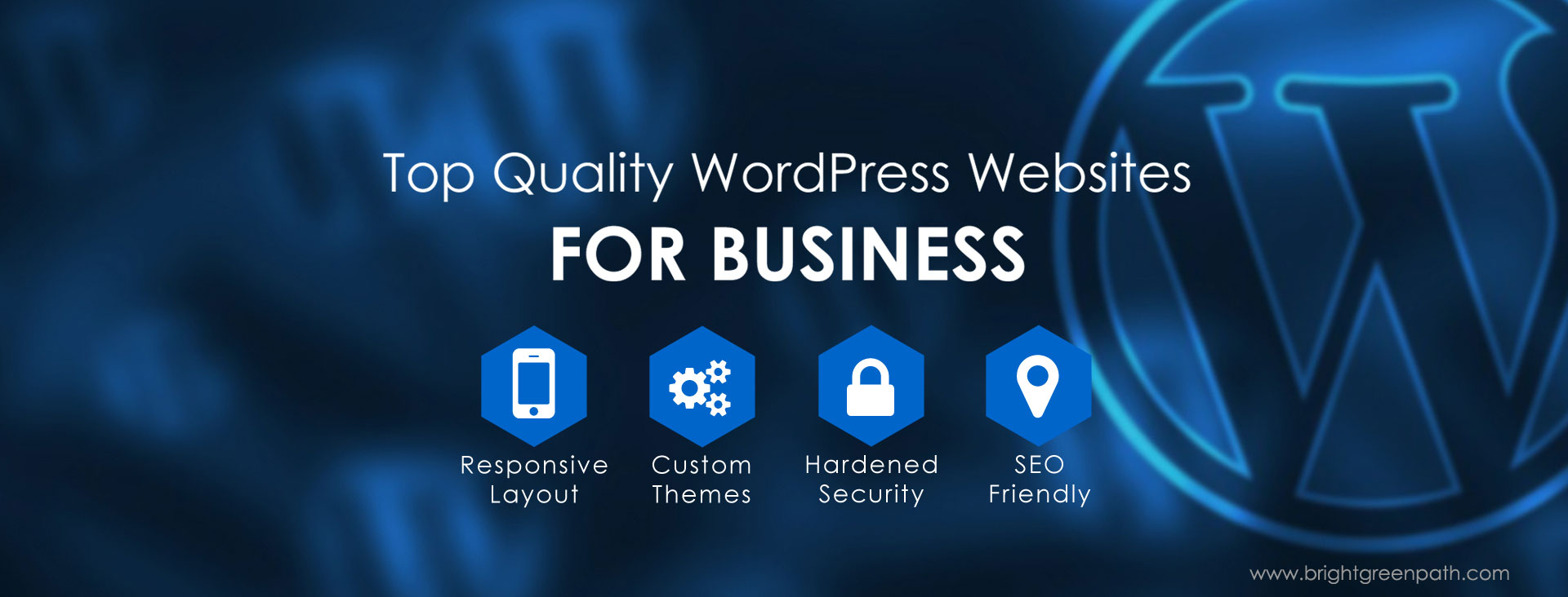 WordPress Custom Web Design for Business - Bright Green Path, Jacksonville, FL