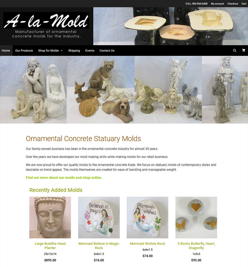 Portfolio Item - Manufacturer Web Design - A-la-Mold